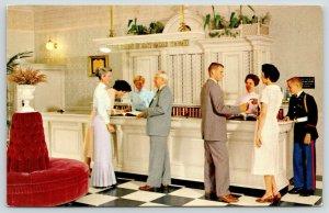 Anaheim California~Disneyland~Welcome Desk~Carefree Corner~US Marine~1960s PC