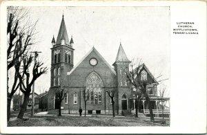 Vtg Postcard Mifflintown, Pennsylvania - Lutheran Church - Cropp & Co Litho