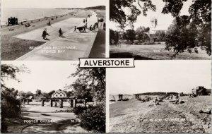 Alverstoke Hampshire UK Multiview Unused Real Photo Postcard F15