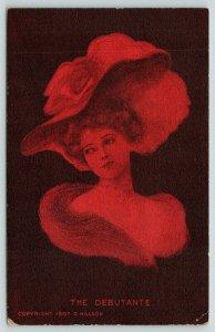Dorothy Hillson~Artist Signed~The Debutante~Lovely Lady~Red & Black Girl Series