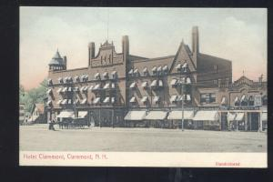 CLAREMONT NEW HAMPSHIRE HOTEL CLAREMONT VINTAGE HANDCOLORED POSTCARD NH