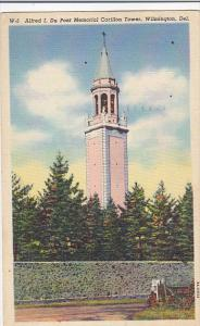 Delaware Wilmington Alfred I DuPont Memorial Carrillon Tower 1951 Curteich