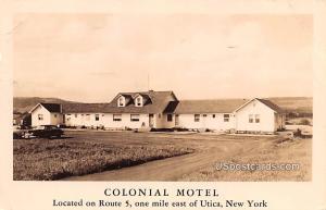 Colonial Motel Utica NY 1951