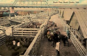 South Omaha, Nebraska - A view of the Stock Pens - in 1912