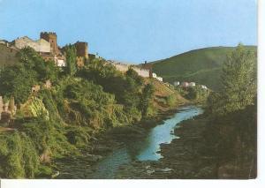 Postal 049349 : Ponferrada. Castillo y Rio Sil
