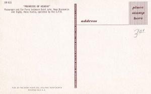 SAINT JOHN, New Brunswick To DIGBY, Nova Scotia, Canada, 50-60s; Princess Of...