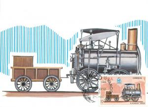 Early Locomotive in United States Maxi Card 1986