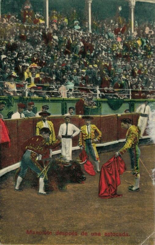 Spain Bullfighting Manolete después de una estocada 01.79