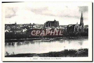 Old Postcard Metz Moselle View Generale