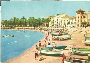 Spain, Sitges, Playa de Pescadores, Fisher Beach, Postcard