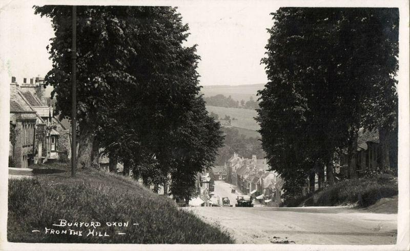 oxon, BURFORD, View from the Hill (1939) RPPC