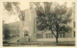 Winona Minnesota State Teachers College 1920s RPPC Photo Postcard 21-7328