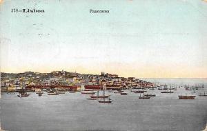 Portugal Lisboa Panorama, Boats 1910
