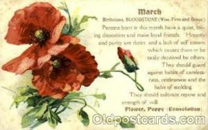 March Birth Stone Postcard Post Card  March