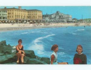 Unused Pre-1980 BEACH SCENE Cape May New Jersey NJ d6815