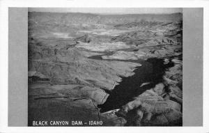 Emmett Idaho~Black Canyon Dam Birdseye~1940s B&W Postcard