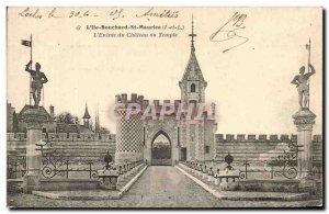 Old Postcard L & # 39Ile Bouchard St Maurice L & # 39Entree Temple du Chateau