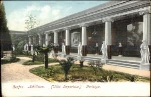 Corfou Greece Villa Imperiale c1905 UDB Postcard #1
