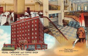 Cleveland Tennessee Hotel Cherokee and Coffee Shop Vintage Postcard JA454340