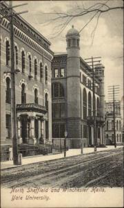 New Haven CT Yale - North Sheffield & Winchester Halls c1905 Postcard