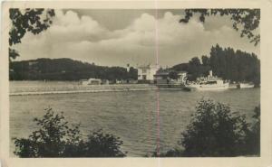 Hungary Balatonboglar 1955 RPPC