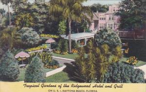 Florida Daytona Beach Tropical Gardens Of The Ridgewood Hotel And Grill 1954