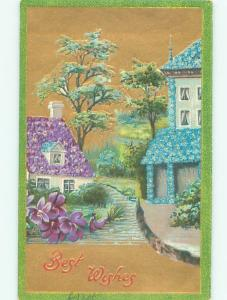 c1910 Fantasy HOUSES MADE OF FLOWERS AC4962