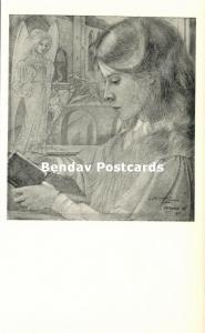 Dutch Symbolist JAN TOOROP - Child with Sacred Heart (1940s)