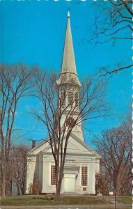 York Maine~First Parish Church Congregational~1950s Postcard