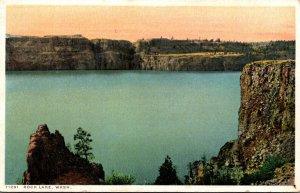 Washington Scene On Rock Lake Detroit Publishing