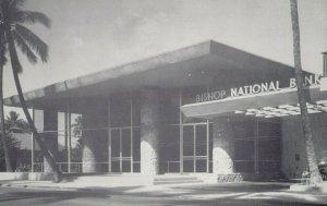 Waikiki , Hawaii, 1950-60s ; Bishop National Bank of Hawaii