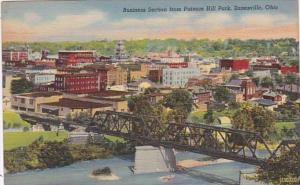 Ohio Zanesville Business Section From Putnam Hill Park Curteich