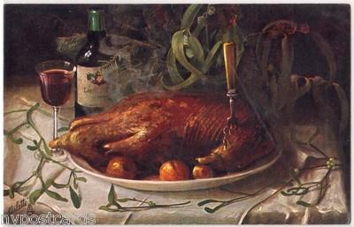 Still Life, Roast Turkey ? Tuck's 6659