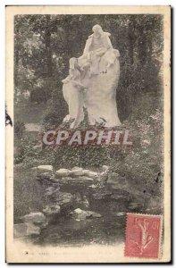 Paris Old Postcard heap Park