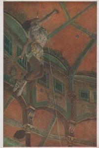 Edgar Degas Woman Adjusting Hat  London University Art Gallery Painting Postcard