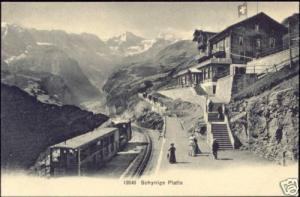 switzerland, SCHYNIGE PLATTE, Railway Station Train 10s