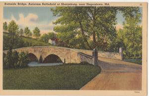 Burnside Bridge, Antietam at Sharpsburg, near Hagerstown, MD, unused Postcard