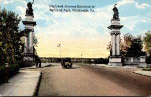 Pennsylvania Pittsburgh Highland Avenue Entrance To Highland Park
