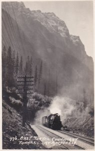 RP; Railroad Train, East Portal, Connhught Tunnel, Mt MacDonald, B.C., 10-20s