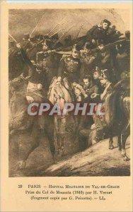 Postcard Old Paris Military Hospital of Val de Grace taking the Pass of Mouzaia