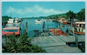 Postcard DE Rehoboth Beach Henlopen Acres c1950s View Henlopen Yacht Basin X5