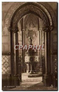 Great Britain London London Old Postcard St. Stephen & # 39s crypt (the form)