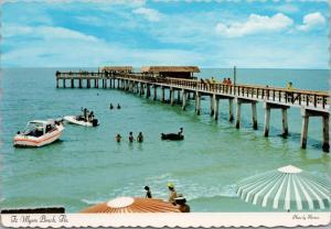 Ft Myers Beach Pier FL Florida Unused Postcard D54