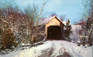 Winter View at Halpin Covered Bridge - Middlebury VT, Vermont