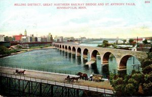 Minnesota Minneapolis Milling District Great Northern Railway Bridge and St A...