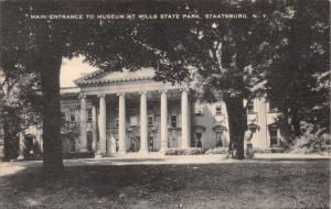 STAATSBURG NEW YORK~MILLS STATE PARK MUSEUM~LOT OF 2 ARTVUE POSTCARDS 1940s