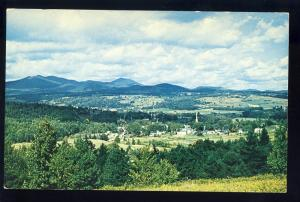 Stowe, Vermont/VT Postcard, View Of Village From Hilltop