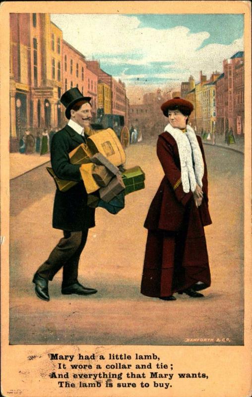 COMIC HUMOR, Cuckold Husband! Sugar Daddy, 1908 Vintage