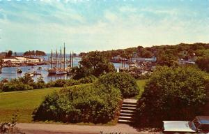 Camden Harbor, Maine, ME, Snug Haven for Boats, Unused Chrome Postcard d3343