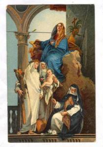 La Madonna In Trono E Varie Sante, Tiepolo, Venezia (Veneto), Italy, 1900-1910s